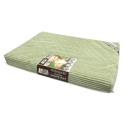 Orthopedic Dog Bed Size: 40 L x 26 W, Color: Sage