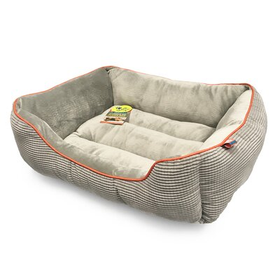 Plush Boxed Cuddler Dog Bolster Size: 26 L x 22 W, Color: Cool Gray