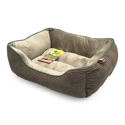 Plush Boxed Cuddler Dog Bolster Size: 20 L x 17 W, Color: Warm Charcoal