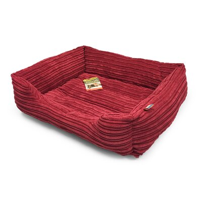 Plush Corduroy Cuddler Dog Bolster Size: 20 L x 17 W, Color: Marsala