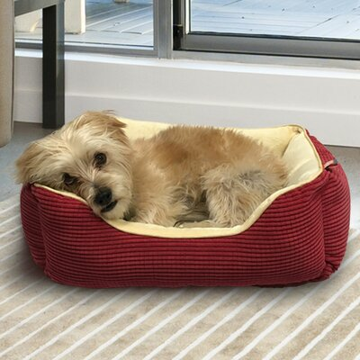 Plush Boxed Cuddler Dog Bolster Size: 20 L x 17 W, Color: Marsala