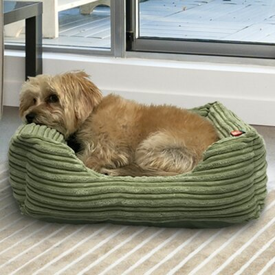 Plush Corduroy Cuddler Dog Bolster Size: 26 L x 22 W, Color: Sage