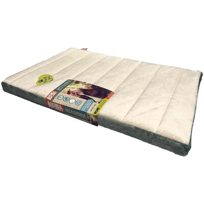 Channel Memory Foam Pet Mat Color: Stone, Size: 2 H x 22 W x 35 D