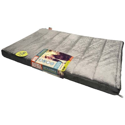 Channel Memory Foam Pet Mat Color: Charcoal, Size: 2 H x 22 W x 35 D