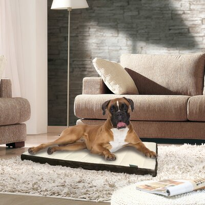 Channel Memory Foam Pet Mat Color: Brown, Size: 2 H x 19 W x 29 D