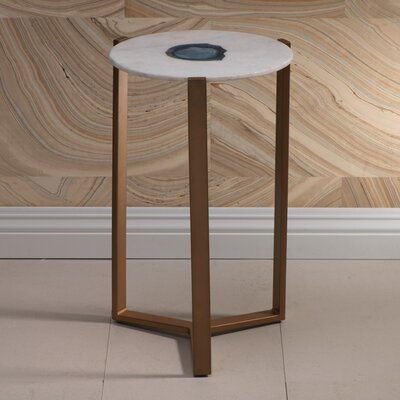 Caspian 20-inch Tall Marble End Table