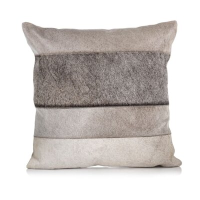 Gannon Hair on Faux Leather Throw Pillow