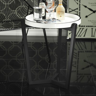No credit financing End Table Finish: White / Black...