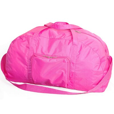 "23"" Packable Travel Duffel Color: Pink"