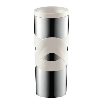 Bodum Bistro 15 Oz. Stainless Steel Travel Mug with Sip-Anywhere Lid 11044-913BUS