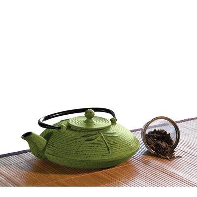 Primula 28 Oz Cast Iron Teapot in Green Mist