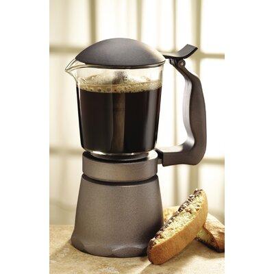 Glass Stovetop Coffee Maker In Dark Grey