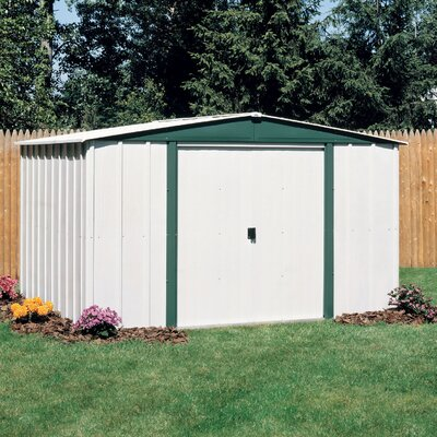 Arrow Hamlet 8 Ft. W x 6 Ft. D Steel Storage Shed (2 Pieces) - Size: 6' x 5' and 8' ...