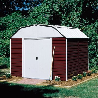 Arrow Barn 10 Ft. W x 14 Ft. D Steel Storage Shed (7 Pieces) - Size: 8' x 6' or 10' ...