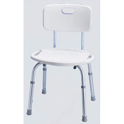 Bath and Shower Seat with Adjustable Back