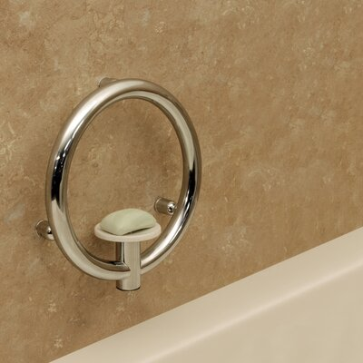 Invisia Soap Dish and Integrated Support Rail Finish: Bright Polished Chrome