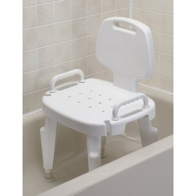 Adjustable Shower Chair with Arms and Back
