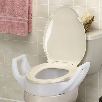 Elevated Raised Toilet Seat with Arms Standard