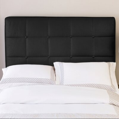 Black Full Size Headboard on Tufted Leather Inflatable Headboard In Black Faux Leather   Wayfair