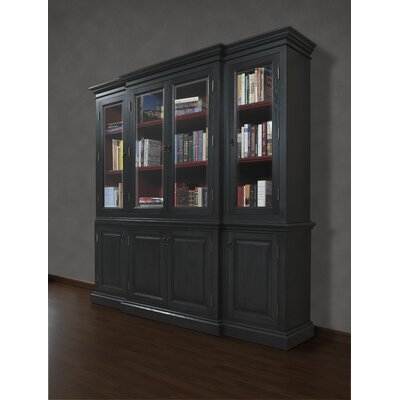 French Restoration Chelsea 84 Oversized Set Bookcase Finish: Antique Black