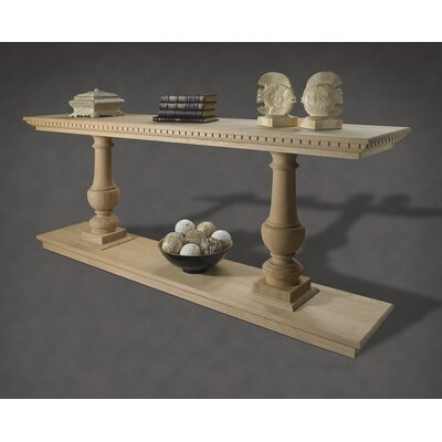 A&E Wood Designs French Restoration Large Provence Dual Baluster Console Table - Finish: Brushed Grey at Sears.com