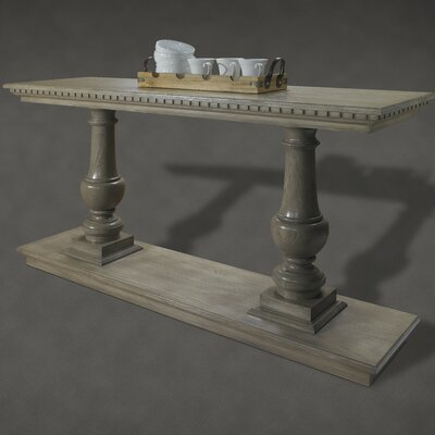 A&E Wood Designs French Restoration Small Provence Dual Baluster Console Table - Finish: Brushed Grey at Sears.com