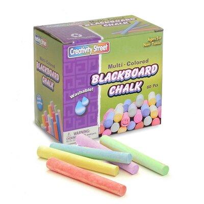 Blackboard Chalk 60 Pc Box Multi (Set of 3) CK-1761