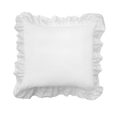 Salguero Eyelet Sham Color: White