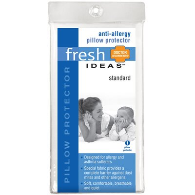 Fresh Ideas Anti-Allergy Pillow Protector Size: Queen