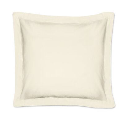 Fresh Ideas Tailored Euro Sham Color: Ivory