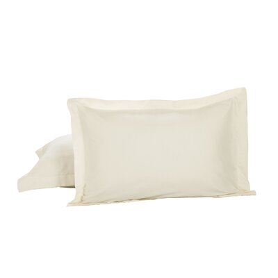 Todays Home Basic Cotton Rich Tailored Sham Color: Ivory