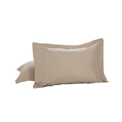 Todays Home Basic Microfiber Tailored Sham Color: Mocha