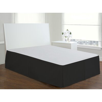 Todays Home Basic Cotton Rich Tailored 200 Thread Count Bedskirt Size: Twin, Color: Black