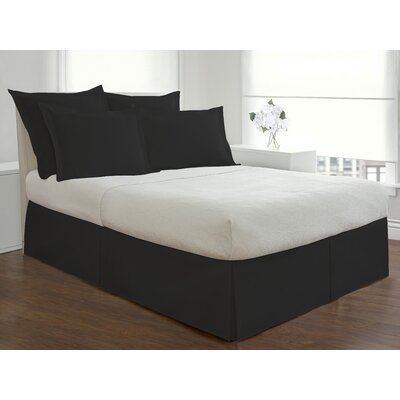 Basic Microfiber Tailored Bedskirt Size: King, Color: Black