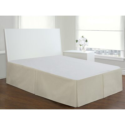 Basic Cotton Rich Tailored 200 Thread Count Bed Skirt Size: King, Color: Ivory