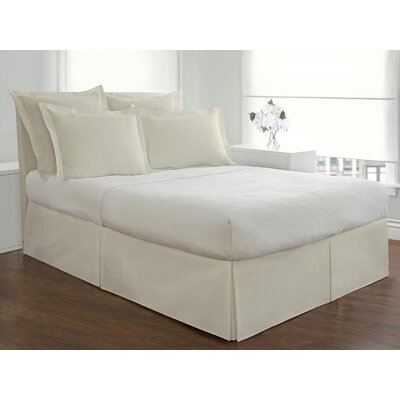 Basic Microfiber Tailored Bedskirt Size: King, Color: Ivory