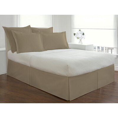 Todays Home by Levinsohn Basic Microfiber Tailored Bedskirt Size: Twin, Color: Mocha