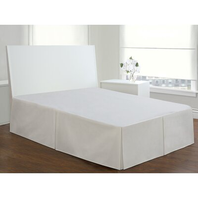Todays Home Basic Cotton Rich Tailored 200 Thread Count Bedskirt Size: King, Color: White