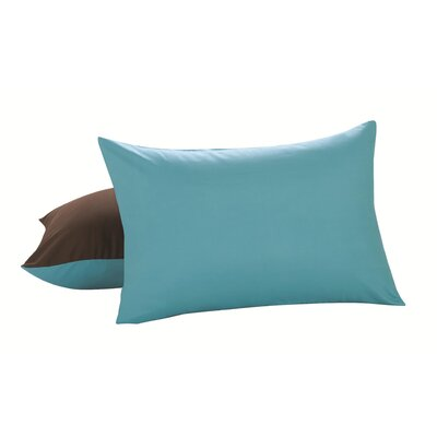 Reversible Microfiber Sham Color: Chocolate / Turquoise