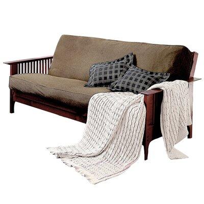 Levinsohn Box Cushion Futon Slipcover Upholstery: Khaki