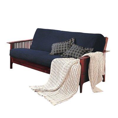 Levinsohn Futon Slipcover Upholstery: Navy