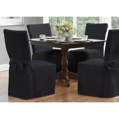 Dining Chair Slipcover Upholstery: Black