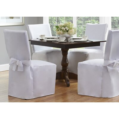 Dining Chair Slipcover Upholstery: White