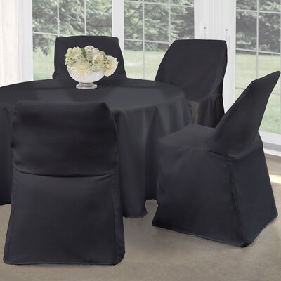 Folding Chair Slipcover Upholstery: Black