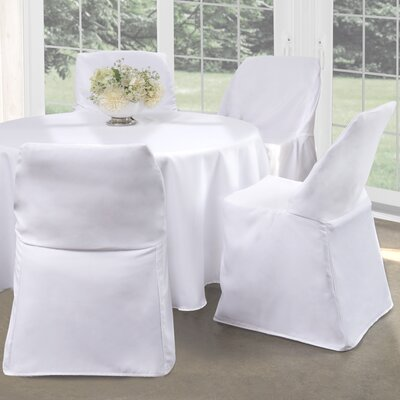 Folding Chair Slipcover Upholstery: White