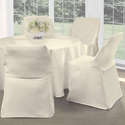 Folding Chair Slipcover Upholstery: Ivory