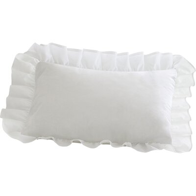 Ruffled Sham Size: King, Color: White