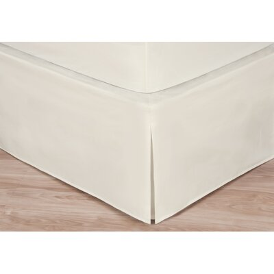 Rolande Wraparound Tailored Bed Skirt Size: Twin, Color: Ivory