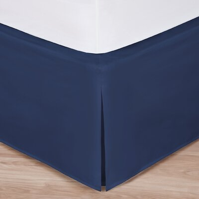 Rolande Wraparound Tailored Bed Skirt Size: Full, Color: Navy
