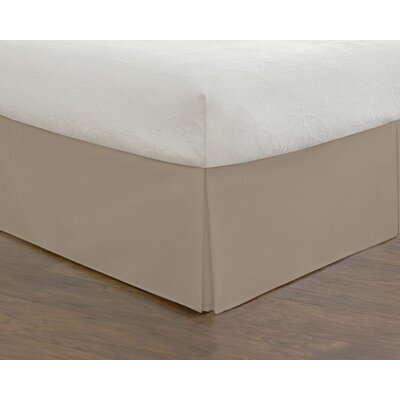 Rolande Wraparound Tailored Bed Skirt Size: Twin, Color: Mocha
